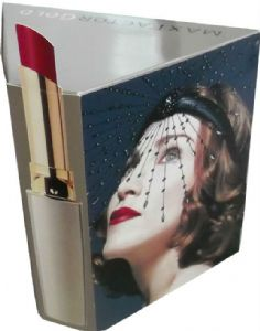MAX FACTOR GOLD - UK  PROMO PRISM COUNTER DISPLAY (Large)